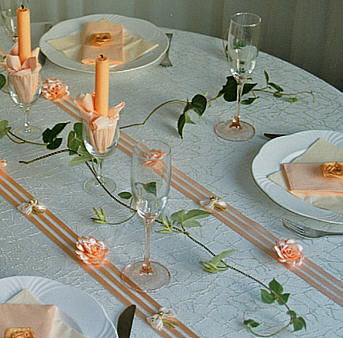 Festive creation Table decoration for the baptism of your child