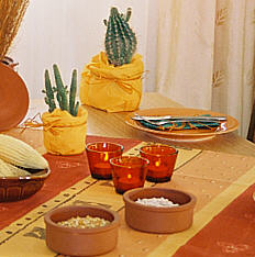 The Mexican table decoration Siesta Mexican stile