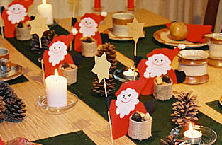 Santa Claus parade Table decoration