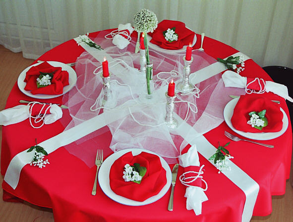 Table decoration - settings for Wedding
