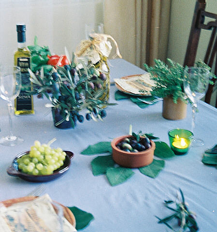 Table decorations ton the Toskana reminding